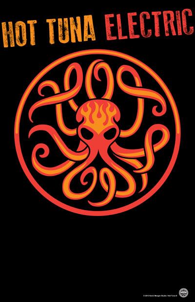 Electric Hot Tuna Octopus Kevin Morgan Studio Artwork